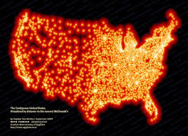 Can I See A Map Of The United States by Where The Buffalo Roamed U2013 How Far Can You Get From Mcdonald U0027s