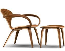 cherner lounge arm chair u0026 ottoman hivemodern com