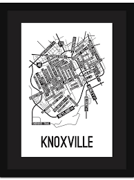 Knoxville Tennessee Map by Knoxville Tennessee Street Map Print Street Posters