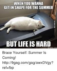Summer Is Coming Meme - when you wanna get in shape for the summer but life is hard