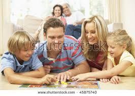 family board home stock photo 45875734