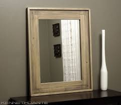 Wood Mirrors Bathroom Mirror Design Ideas Weathered Light Wooden Bathroom Mirror