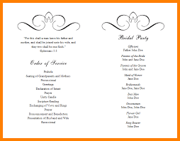 Sample Wedding Programs Templates 9 Wedding Programs Template Monthly Budget Forms