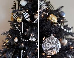 black and silver decorations glimmer tinsel prelit tree