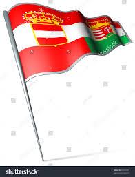 Austro Hungarian Flag Flag Pin Austria Hungary 18671918 Stock Illustration 30314779