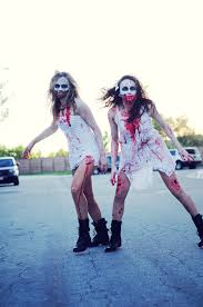 i made my daughter and her friend into zombies for halloween