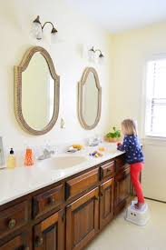Shaped Bathroom Mirrors by Hall Bathroom Happenings Young House Love