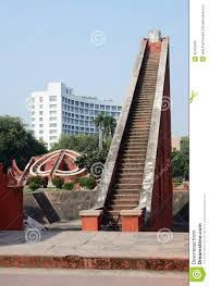 big stairs at jantar mantar complex medieval observatory delhi