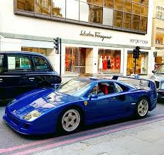 blue f40 the only f40 in aqua blue spotted bhp cars performance
