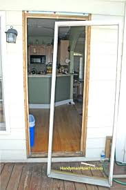 Exterior Door Install How To Replace Door Frame How To Replace A Glass Frame In A Steel