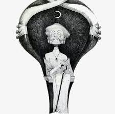 imagen blanco y negro en illustrator blanco y negro vieja illustrator blanco y negro old lady