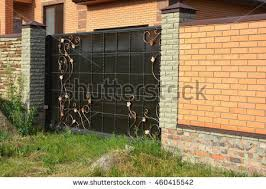 Brick Fence Stock Images RoyaltyFree Images  Vectors Shutterstock - Brick wall fence designs