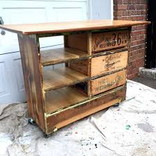 ugly dresser turned into rustic kitchen island cart 6 steps with