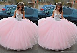 birthday dress pink sequins women sweet 15 quinceanera dresses beaded