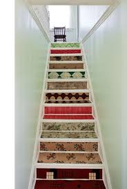 dishfunctional designs intimate stairs painted stenciled