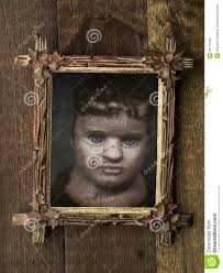 creepy halloween pictures creepy halloween framed doll stock photo image 28716340
