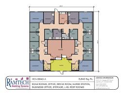 clinic floor plan 3840 sf medical clinic floor plan ramtech building systems small