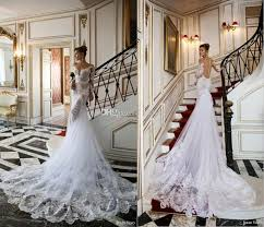 2015 new arrival julie vino mermaid wedding dresses applique