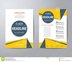 simple triangle and circle brochure flyer design layout template