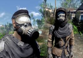 Gas Mask Costume Two Tone Gas Mask And V2 At Fallout 4 Nexus Mods And