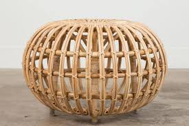 large rattan ottoman by franco albini for sale at 1stdibs