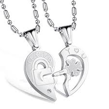 jewelry necklace love images L love you couple necklace heart for lovers fashion jewelry jpg