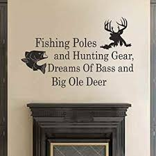Hunting Decor For Living Room by Amazon Com Fishing Poles And Hunting Gear Dreams Of Bass And Big