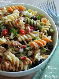 pasta salad with tuna italian tuna pasta salad cozy country living
