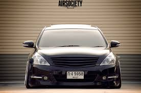 stanced nissan maxima nissan j32 maxima bagged air suspension ride ssr ms1 stance