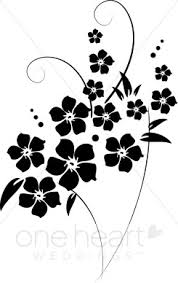 flower clip free clip black and white flowers flower flourishes clipart