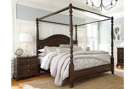 Lavidor Queen Canopy Bed Ashley Furniture HomeStore - Ashley furniture homestore bedroom sets