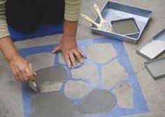 Outdoor Concrete Patio Paint From Concrete Slab To Cozy Patio Until We Can Afford Stone Pavers