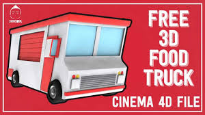 free food truck 3d model youtube
