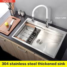 single kitchen sink faucet single bowl stainless steel kitchen sink with faucet tap evier