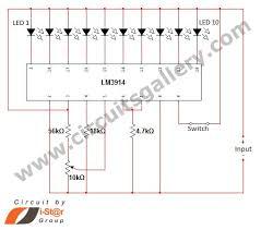 led dot display based battery charge level indicator circuit