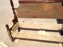 How To Attach A Footboard To A Bed Frame How To Make A Bench From An Old Headboard Footboard Snapguide