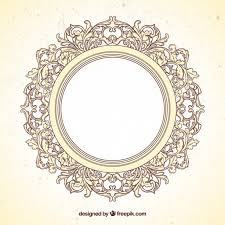 frame in ornamental style vector free