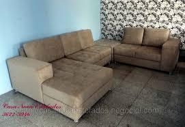 Sofa Retratil Com Chaise E Puff Sofa Hpricotcom - Puff sofa 2