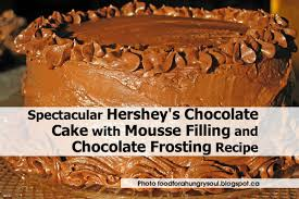 spectacular hershey u0027s chocolate cake with mousse filling and