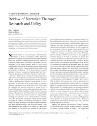 review of narrative therapy research and utility pdf download