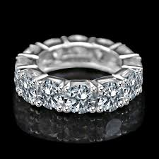 set rings round images 7ct tw 5 5 mm radiant round prong set all around classic jpg