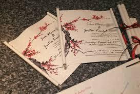 Scroll Invitations Diy Wedding Invitation Scrolls Red Black Silver U0026 Blossom Theme