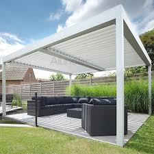 motorised pergola louvered roof opening roof aluminium