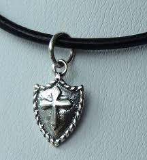gifts for confirmation girl leather and sterling silver shield cross boy necklace choker