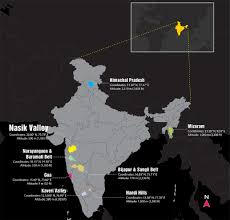 India Regions Map by Soultree Wine Wine Regions Of India