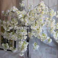 Marriage Decorations Aliexpress Com Buy Spr 12pcs Lot Drooping Cherry Blossom Rattan