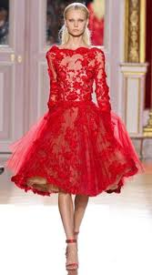 elie saab dresses for sale long sleeves short red lace ball