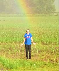 wisconsin family discover the end of a rainbow in a farmer u0027s field