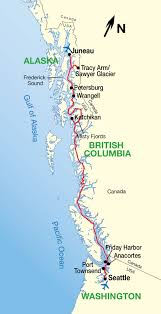 Seattle City Limits Map by Alaska Inside Passage Cruise Map Travel Seattle Alaskan Cruise