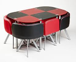 cheap red dining table and chairs modern glass red and black dining table with 6 leather chairs unique
